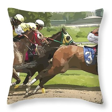 Throw Pillow featuring the photograph Racetrack Views by Alice Gipson