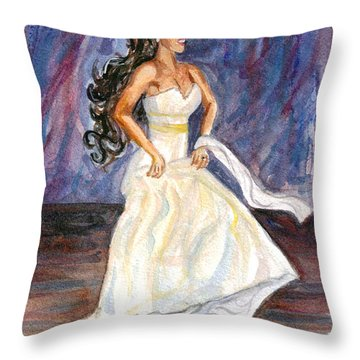 Throw Pillow featuring the painting Rachel by Clara Sue Beym