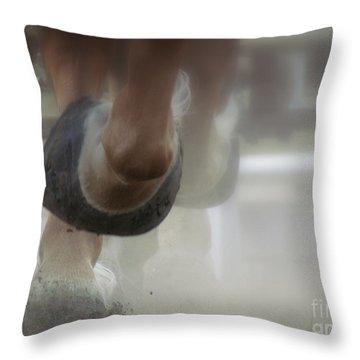 Racing Throw Pillow by France Laliberte