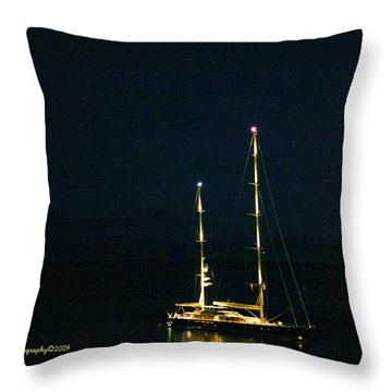 Radiance At Night Throw Pillow