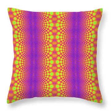Radiating Throw Pillow by Clayton Bruster