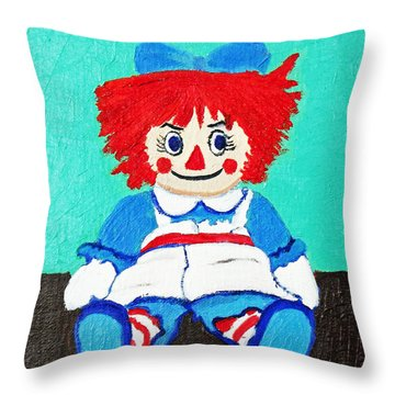 Raggedy Ann With An Attitude Throw Pillow