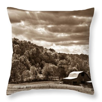 Raging Skies Throw Pillow by Douglas Barnett