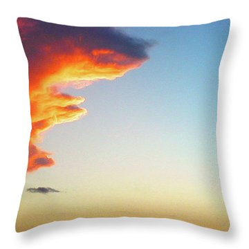 Raging Sky Throw Pillow by Michael Waters
