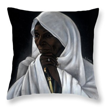 Rahab Throw Pillow by L Cooper