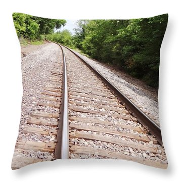 Railroad 1 Throw Pillow