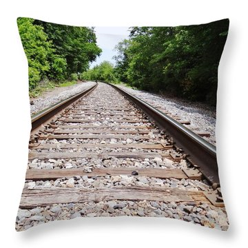 Railroad 2 Throw Pillow