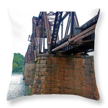 Throw Pillow featuring the photograph Railroad Bridge 2 by Kay Lovingood
