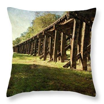 Railroad Bridge Throw Pillow by Tamyra Ayles