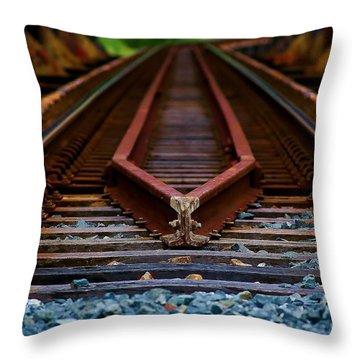 Railway Track Leading To Where Throw Pillow