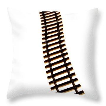 Railway Tracks Throw Pillow by Bernard Jaubert