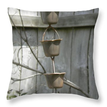 Rain Catchers Throw Pillow by Pamela Patch