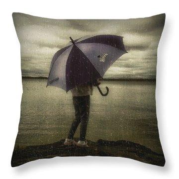 Rain Day 2 Throw Pillow by Heather  Rivet