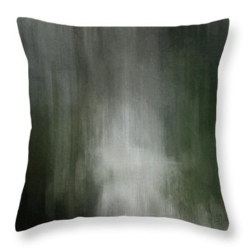 Throw Pillow featuring the painting Rain Forest by Jean Moore