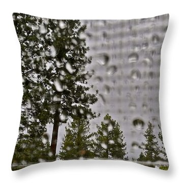 Rain On My Windowpane Throw Pillow by Kirsten Giving