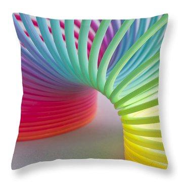 Rainbow 1 Throw Pillow by Steve Purnell