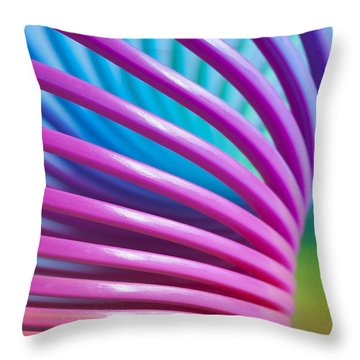 Rainbow 10 Throw Pillow by Steve Purnell