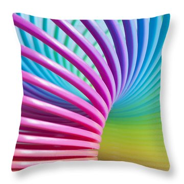 Rainbow 3 Throw Pillow by Steve Purnell