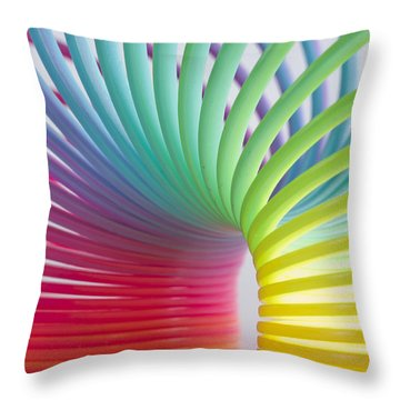Rainbow 5 Throw Pillow by Steve Purnell