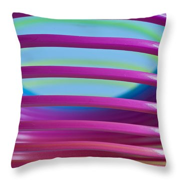 Rainbow 9 Throw Pillow by Steve Purnell