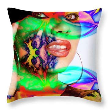 Rainbow Beauty Throw Pillow