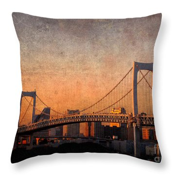 Rainbow Bridge Throw Pillow