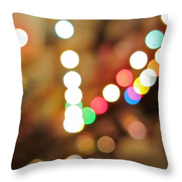 Rainbow Brights Throw Pillow