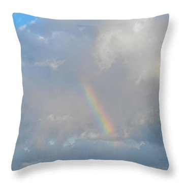 Rainbow From Molokai Throw Pillow by Kirsten Giving