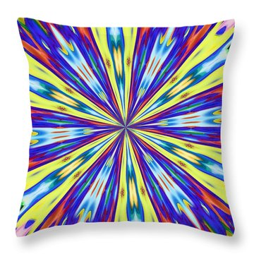 Throw Pillow featuring the digital art Rainbow In Space by Alec Drake