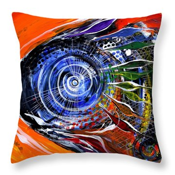 Rainbow Left ... Again Throw Pillow