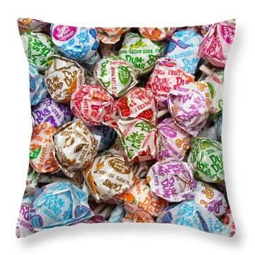 Rainbow Lollipops Square Throw Pillow by Andee Design