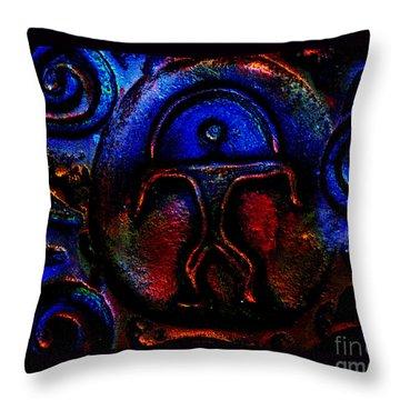 Rainbow Man Throw Pillow by Susanne Still