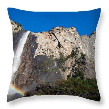 Rainbow On Bridalveil Fall Throw Pillow