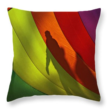 Rainbow Shadows Throw Pillow