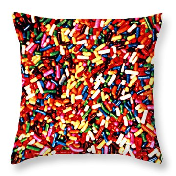 Rainbow Sprinkles Throw Pillow