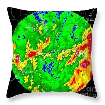 Rainfall Totals Tropical Storm Allison Throw Pillow by Science Source