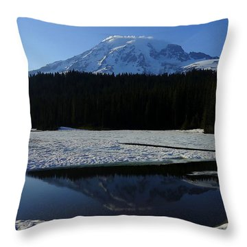 Rainier Reflected Throw Pillow