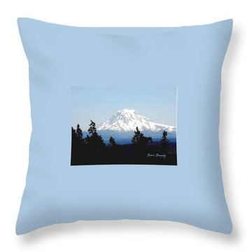 Rainier Reign Throw Pillow