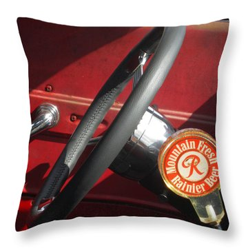 Throw Pillow featuring the photograph Rainier Stick Shift  by Kym Backland