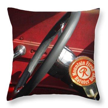 Rainier Stick Shift  Throw Pillow by Kym Backland