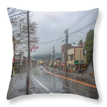 Rainy Day Nikko Throw Pillow