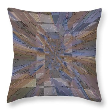 Rainy Day Portal 1 Throw Pillow by Tim Allen