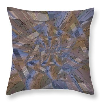 Rainy Day Portal 4 Throw Pillow by Tim Allen
