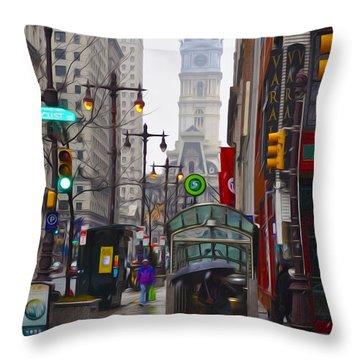 Rainy Days And Sundays Throw Pillow by Bill Cannon