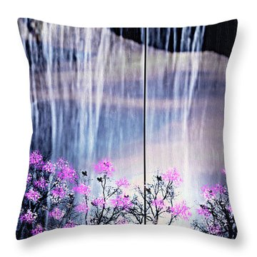 Throw Pillow featuring the digital art Rainy Nights In Georgia by Sherri  Of Palm Springs