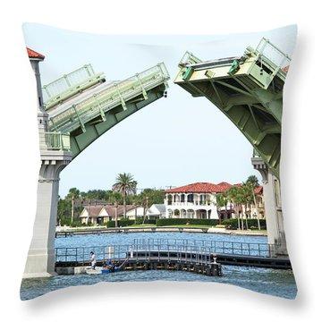 Raised Bridge Throw Pillow by Kenneth Albin