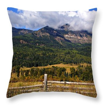 Ranchland Throw Pillow by Marty Koch