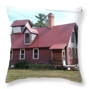 Range Light Throw Pillow by Bonfire Photography