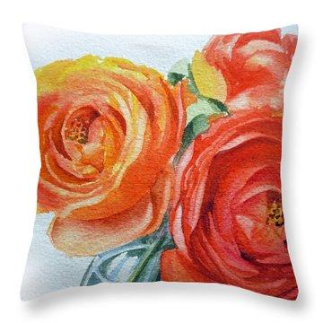 Ranunculus Throw Pillow