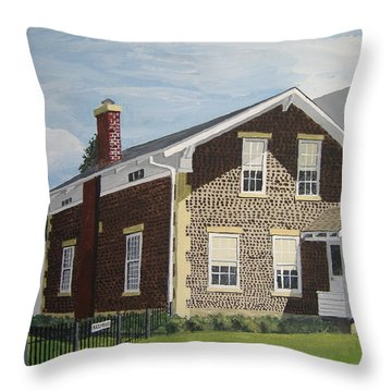 Throw Pillow featuring the painting Rasey House by Norm Starks